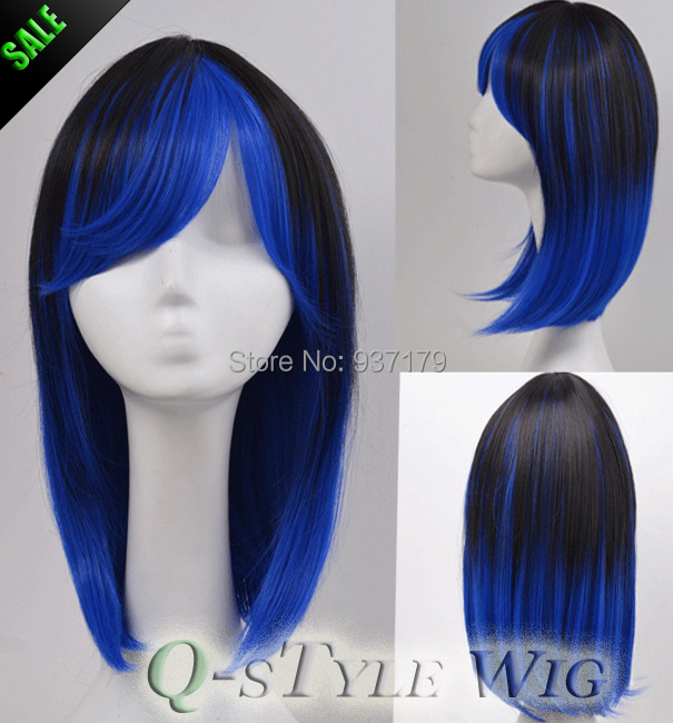 New Arrival Highlight Ombre Jet Black To Dark Blue Color Heat