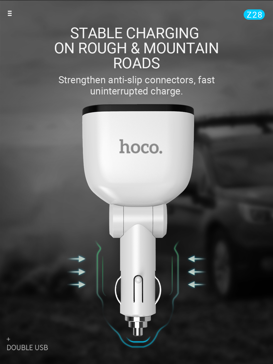 hoco-z28-power-ocean-cigarette-lighter-in-car-charger-with-digital-display-compatibility