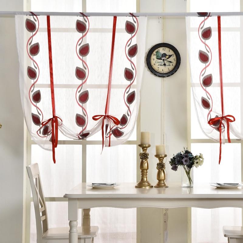 Aliexpress Com Buy Short Curtains Kitchen Door Roman Blinds Voile