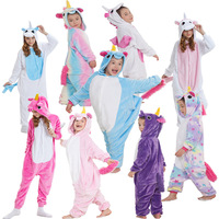 RUNNING CHICK Winter Orchid Unicorn Conjoined Pajamas
