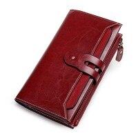 New Design 2019 Women Leather Wallet Women's Clutch Bag Hasp Wallet Long Zipper Female Coin Purse Women's Wallet for Lady