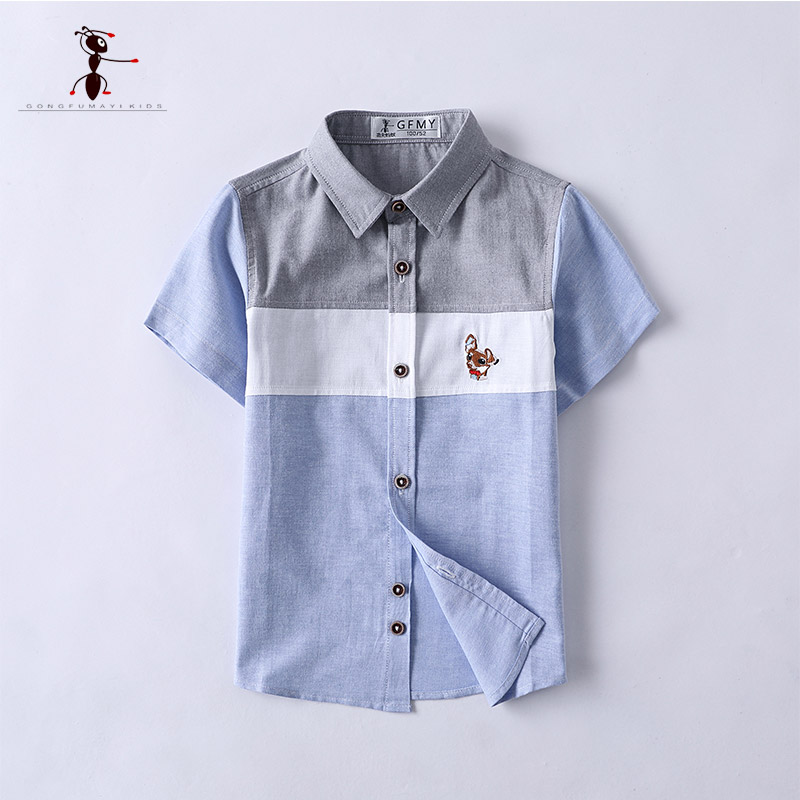Kung Fu Ant 2018 New Arrival Short Sleeve for Boys Students Clothing Summer Fashion Classic Blouses for K3052Kung Fu Ant 2018 New Arrival Short Sleeve for Boys Students Clothing Summer Fashion Classic Blouses for K3052