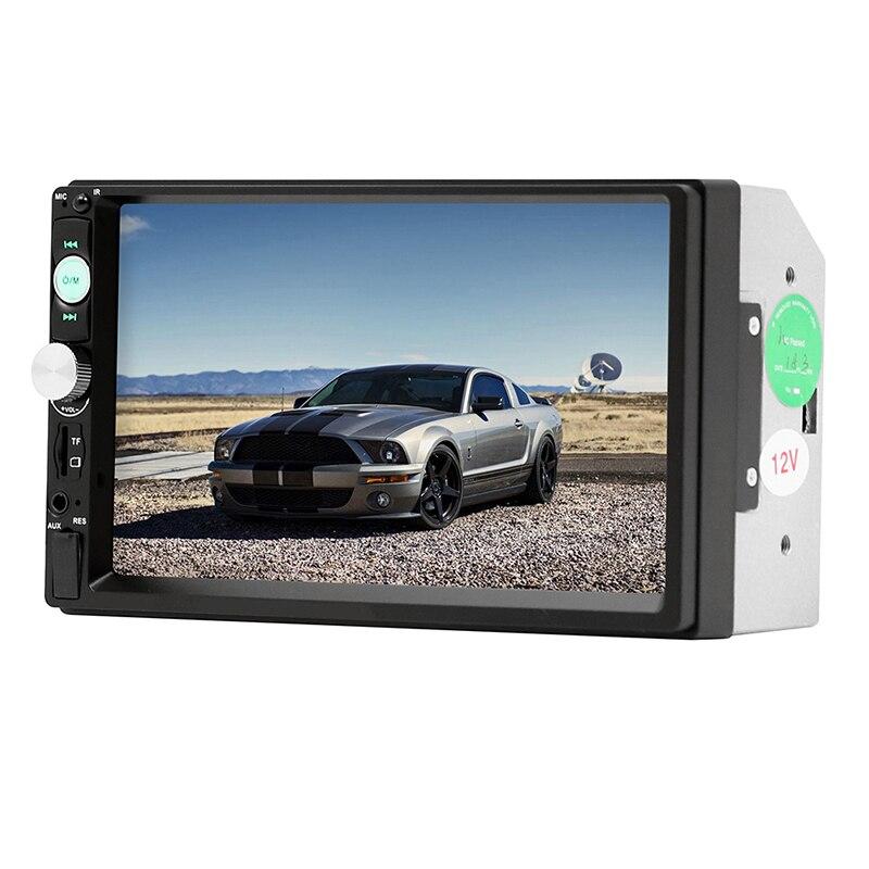 Lecteur d'écran tactile MP5 2 din 7 pouces HD MP5 SD/FM/MP4/USB/AUX/Bluetooth Audio universel pour caméra de recul télécommande