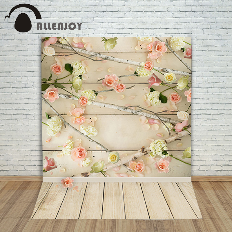 photo studio backdrop baby 6.5x10ft(200x300cm) Flowers branch wood photography background