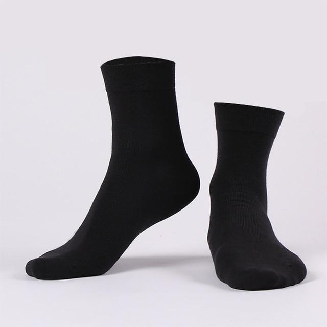Cotton New styles 10 Pairs / Lot Black Business Men Socks US size(6.5-12) 3