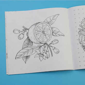 Secret Garden English Edition Wallpaper Adult Child Drawing Sketch Coloring Book Each 24 Pages School Office Stationery