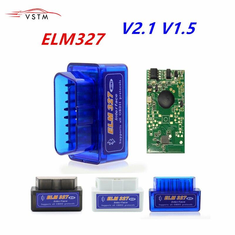 Супер Мини ELM327 Bluetooth OBD2 V2.1 V1.5 автоматический сканер OBDII автомобильный ELM 327 Тестер диагностический инструмент для Android Windows Symbian