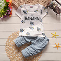 1T-4T 2017New Toddler Boys Clothing Children Summer Boys Clothes Cartoon Kids Boy Clothing Set T-shit+Pants 100% Cotton