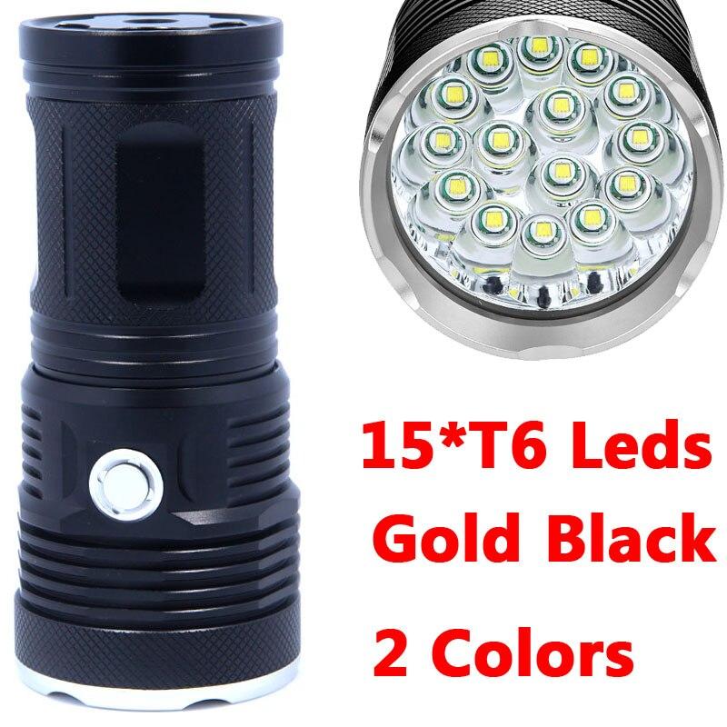 2017 New 38000 lumens Flashlight Torch 15*XML T6 LED Outdoor lighting lantern Light Lamp waterproof 4x 18650 For Hiking sitemap 55 xml