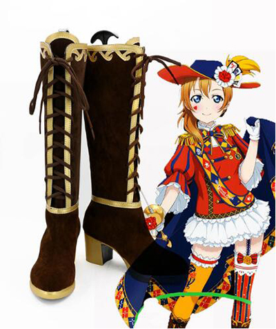 Любовь жить Маки Nishikino Ellie ботинки для костюмированной вечеринки на Хэллоуин вечерние Косплэй шоу сапоги индивидуальный заказ для взрослых ...