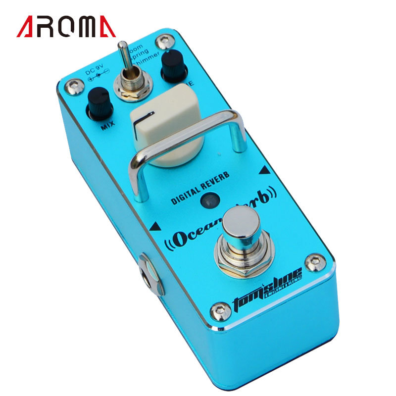 AROMA AOV-3 Ocean Verb Digital Reverb Electric Guitar Effect Pedal Mini Single Effect with True Bypass mooer ensemble queen bass chorus effect pedal mini guitar effects true bypass with free connector and footswitch topper