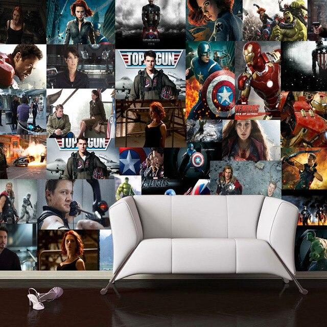 3D Avengers Wallpaper Marvel Heroes Wall Mural Captain