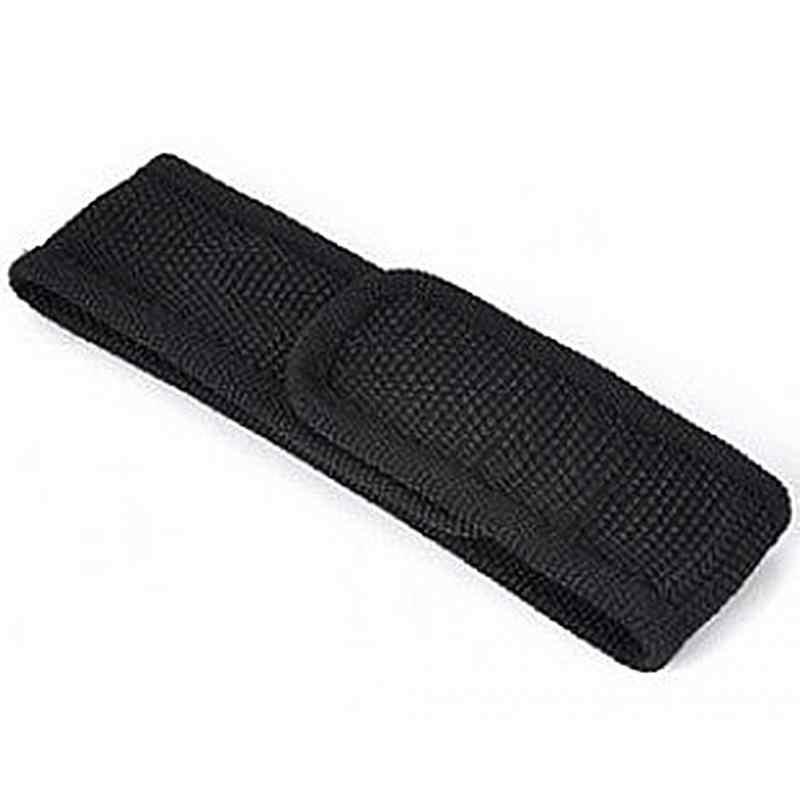 Nieuwe Zwarte Nylon Zaklamp Holster Pouch Case Cover Riem Torch Case Voor 12-15.5 cm Zaklamp Alleen Die Zonder licht #0831