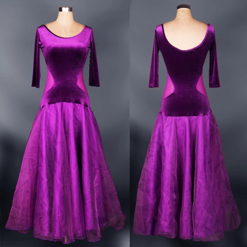 dancing dress waltz adult ballroom competition dresses international walzer purple sale long dance standard for women flamenco