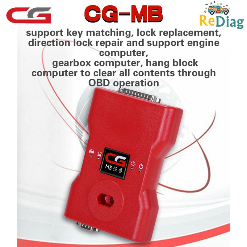 <font><b>CGDI</b></font> <font><b>Prog</b></font> <font><b>MB</b></font> <font><b>Key</b></font> <font><b>Programmer</b></font> for Benz Fastest Way via OBD Support All <font><b>Key</b></font> Lost with Online Password Calculate Function image