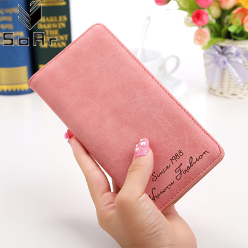 SoAr Women Wallet Long Purse Matte No Zipper Clutch Coin Purses Card Holder Handbag Female High Quality Leather Hot Sale Fashion cyclone sn50t3 22l dust barrel luxury stainless steel thickening 1 piece