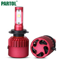 Partol H7 Car LED Headlight Bulbs 80W 9600LM CREE XHP50 Chips All In One LED Headlamp