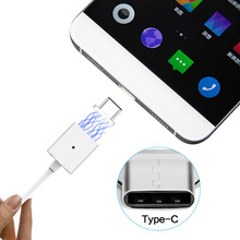 5 V 2.4 A Double alloy Type-C cable magnetic charging adapter Micro usb c data line for millet 5/4c/Letv/Nokia N1 /Huawei P9