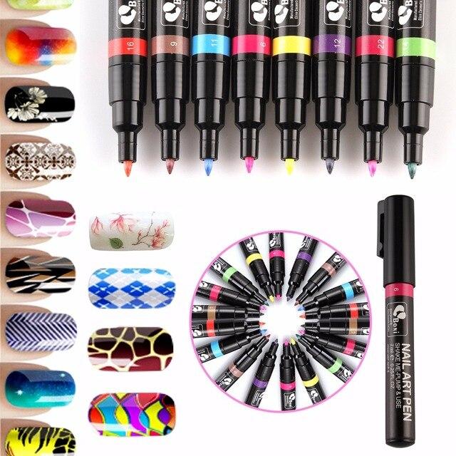 Por 24 Colors Nail Art Pen Set For Diy Decoration Polish