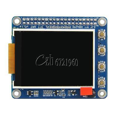 "Raspberry pi 2 3 3b/2b/b + 2.2 ""tft pantalla lcd display sombrero w/botones sensor"