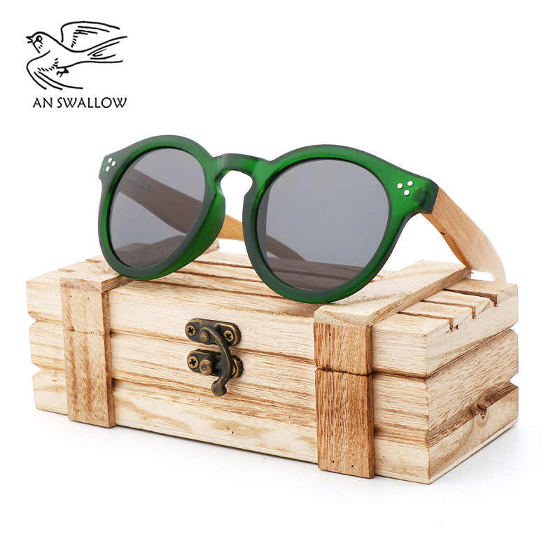 9d29c01129 New PC Green Frame Trendy Sunglasses for Men and Women Hikers Polarized  Sunglasses Bamboo and Wood