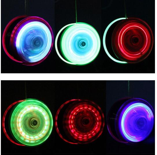 2016 New High Speed YoYo Ball Luminous LED Flashing Yo Yo Child Toys for Kids Party
