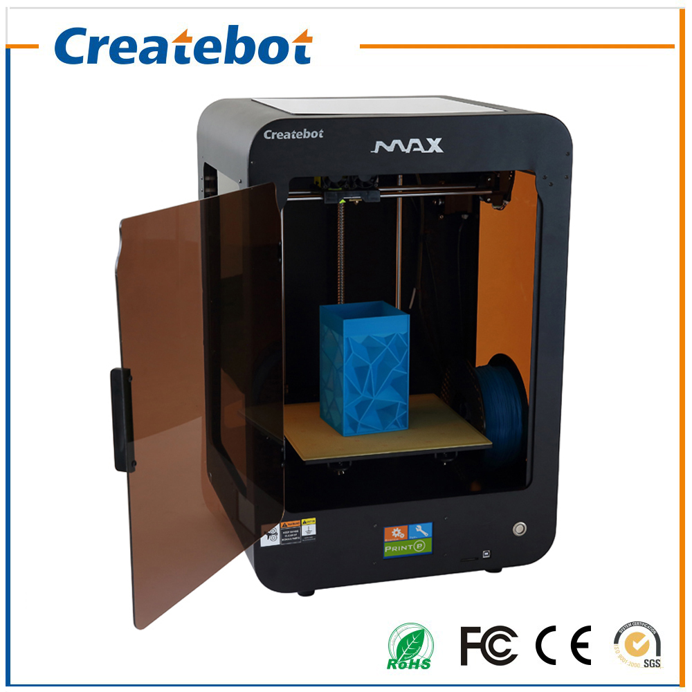 New Semi Auto Leveling Createbot Max 3D Printer Newest Version Control Mainboard Large Print Size