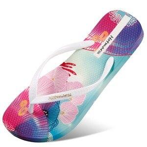 Image 5 - Хит продаж, женские шлепанцы, сандалии с цветочным узором, цветные летние тапочки, сезон 2019, серия Ocean