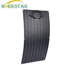 ЭТФЭ гибкие солнечные панели 18 в 100 Вт солнечные модули для Зарядное устройство для RV/лодка 100w Солнечные энергетические установки для начинающих 12V Солнечный Зарядное устройство