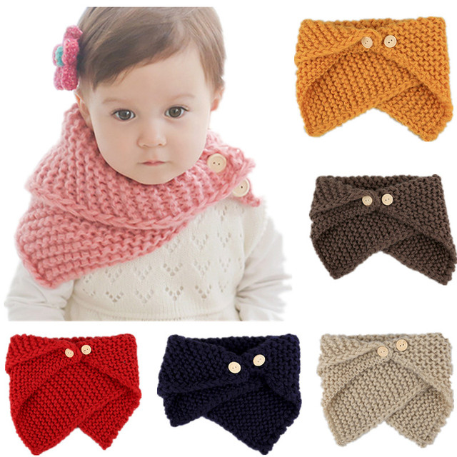 Fashion Irregular Lic Scarf For Children Cute Babys Triangle Button