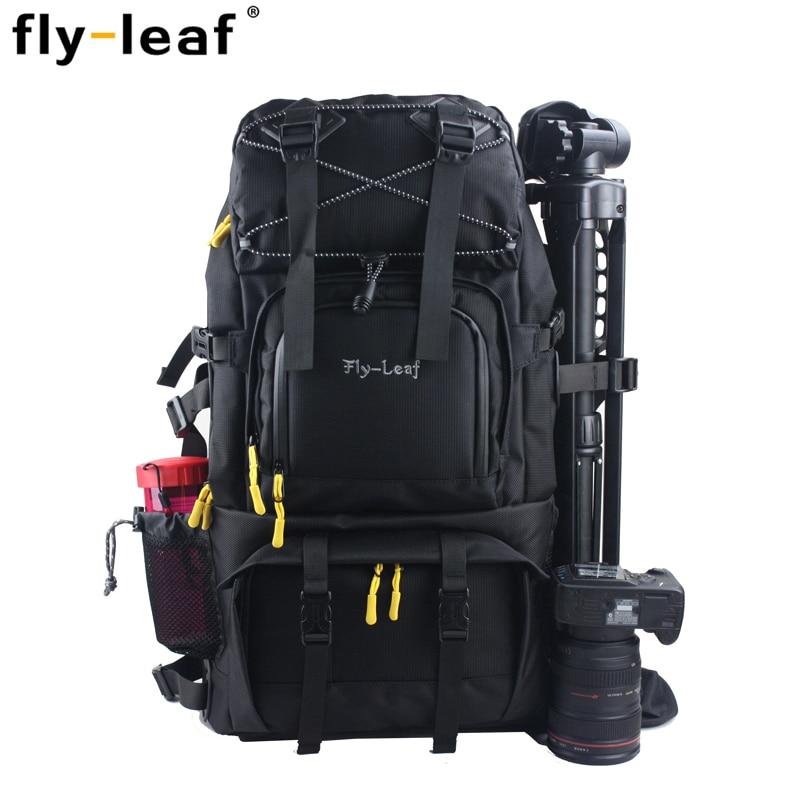 EMS hot sale FlyLeaf FL303 double shoulder camera bag professional slr aluminum digital laptop bag the big bag