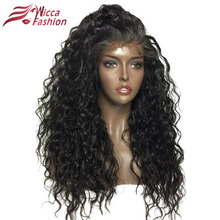 Dream Beauty Non-Remy Curly Wigs 16″-24″ Nature Color Peruvian Lace Front Human Hair Wigs 150% Density Frontal Lace Wig