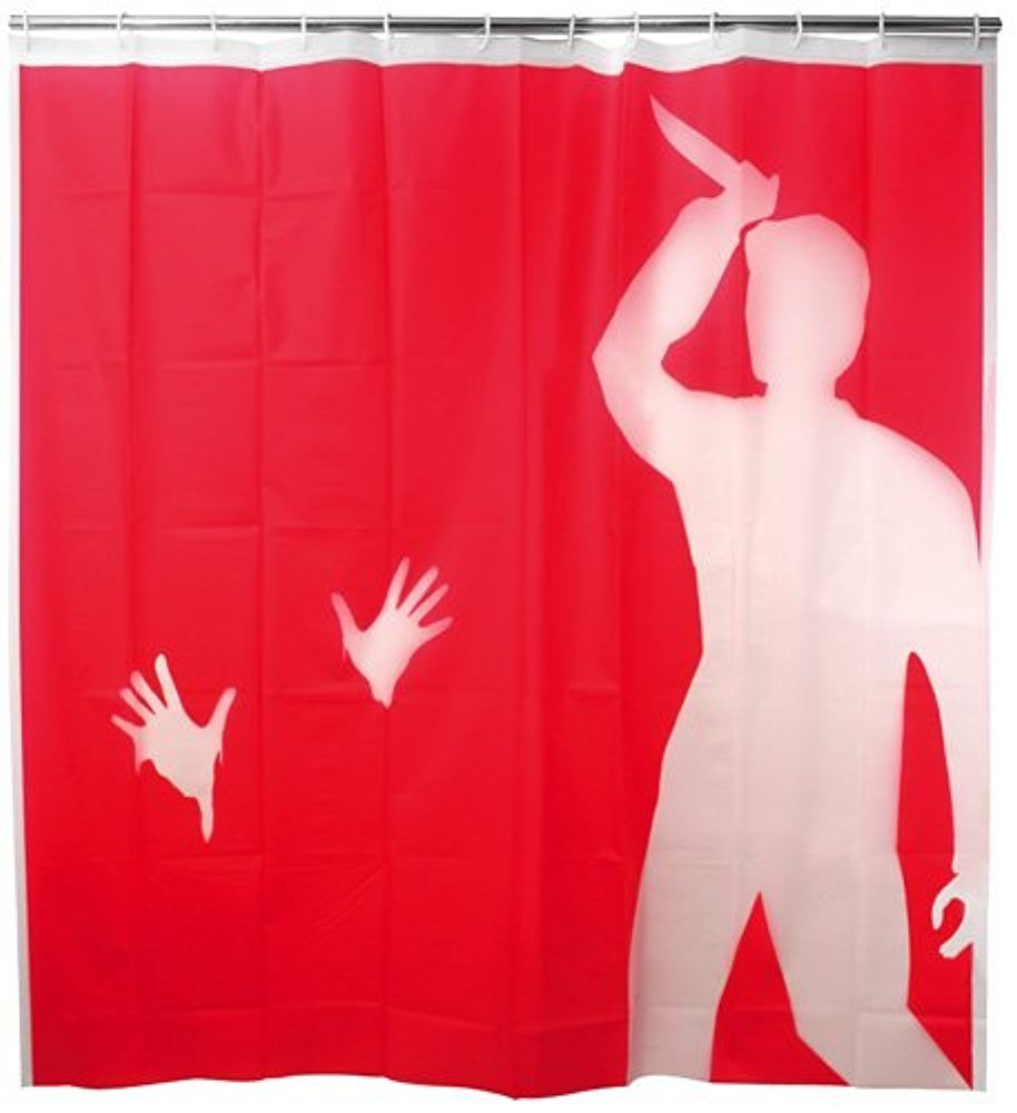 Red shower curtain - Memory Home Psycho Spa Bathroom Decor Special Collection Fabric Shower Curtain Modern Waterproof Red Shower Curtains