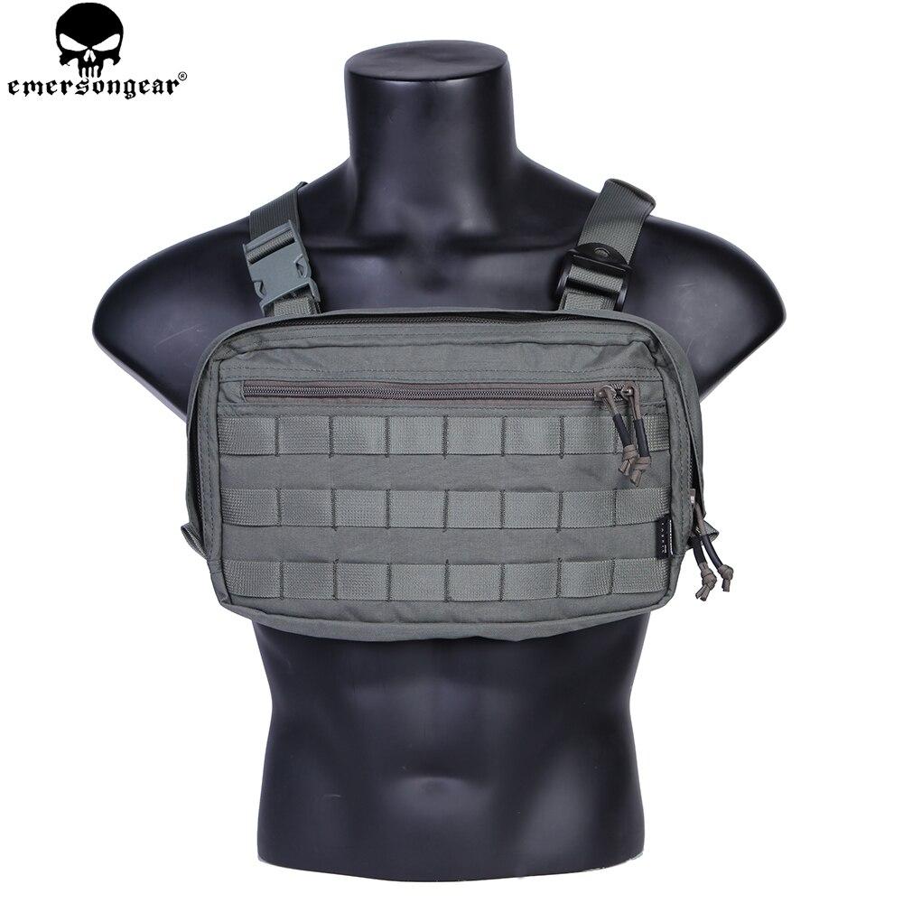 EMERSONGEAR coffre Recon sac outil poche Combat tactique gilet poche sac EDC poitrine sac Multicam FG EM9285