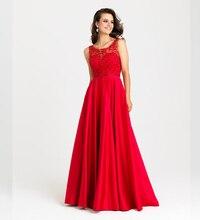 Nach Maß Vestido De Festa 2016 einfache a-line formales Kleid Mode Perlen Spitze bodenlangen Abendkleider 2016