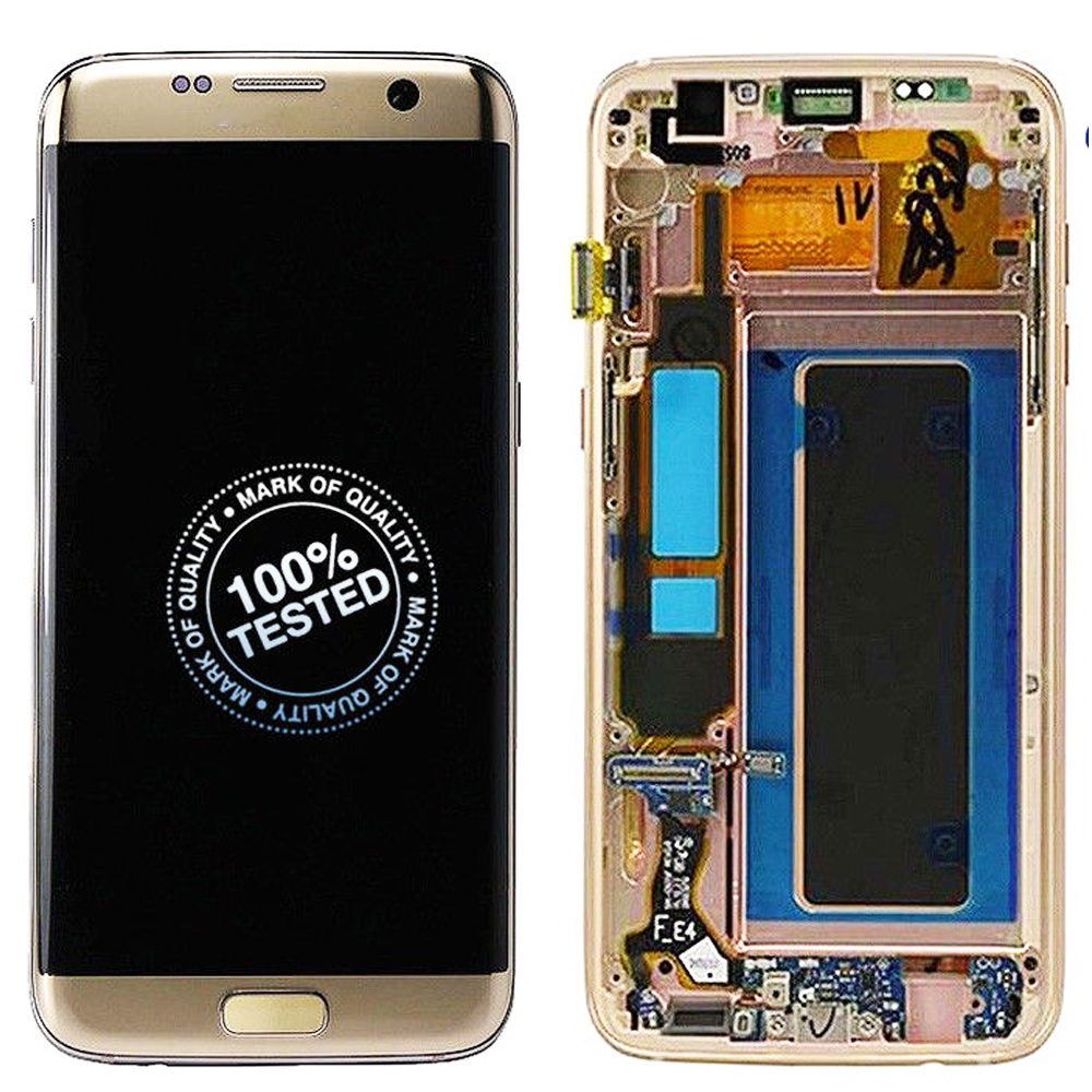 Original AMOLED For SAMSUNG <font><b>GALAXY</b></font> <font><b>S7</b></font> LCD <font><b>Display</b></font> Touch Screen Digitizer Assembly With Frame For SAMSUNG <font><b>S7</b></font> G930 <font><b>G930F</b></font> LCD image
