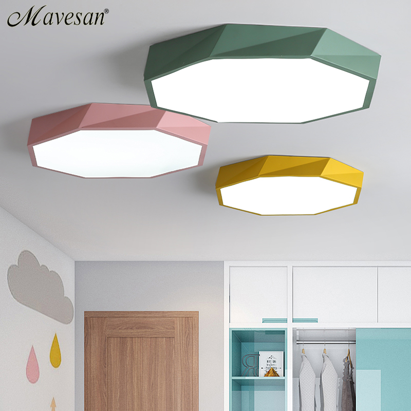 LED Ceiling Lights Colorful Macarons indoor light For Living Room Bedroom luminaria teto aisle high 6cm Home Lighting Fixture