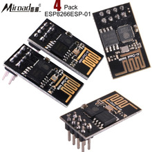 Miroad 4 Pack ESP8266ESP 01 WiFi Wireless Transceiver Module 1MB Flash for Arduino with Tutorial KY45