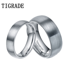 8mm Mens Black Carbon Fiber Wedding Band Jewelry Ring Domed Tungsten Carbide Engagement