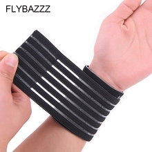 FLYBAZZZ 1PCS Bandage Breathable Elastic Wrist Support Pad Sport Wristband Gym Fitness Wrist Brace Wraps Hand Band Carpal Tunnel aolikes 1pcs cotton elastic bandage hand sport wristband gym support wrist brace wrap carpal tunnel