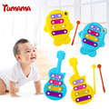 Children Baby Musical Toys Guitar Fish musical instrument toys Wisdom Development Penguin improve Kid sensitive to colors sounds