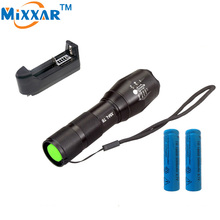 RUZK50 4000 Lumens Zoomable LED Flashlight Torch Waterproof Zoom CREE LB-XL T6 LED Flash Light + 18650 5000mAh Battery & Charger