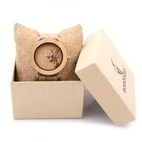 BOBO BIRD Wood Women Watch Timepieces Luxury Casual Wooden Quartz Hot Sale Leather Wristwatches Relogio Feminino