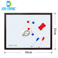 XINDI 35 45cm 5 Colors MDF Frame Magnetic Writing Boards Message Dry Erase Whiteboard With Free