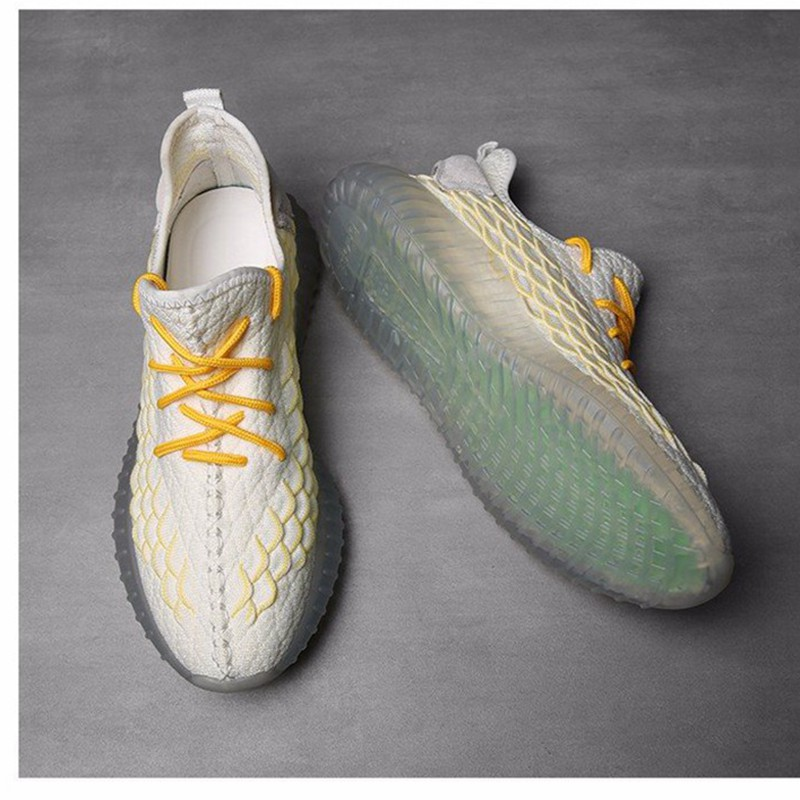 Summer Men 39 s Fashion New Flying Woven Sports Running shoes Boy Light Breathablet Street Sneakers Outdoor Jogging Big size shoes in Running Shoes from Sports amp Entertainment