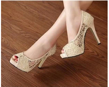 2014 spring and summer new mesh pointed shoes Korean sweet hollow mesh lace women shoes wholesale