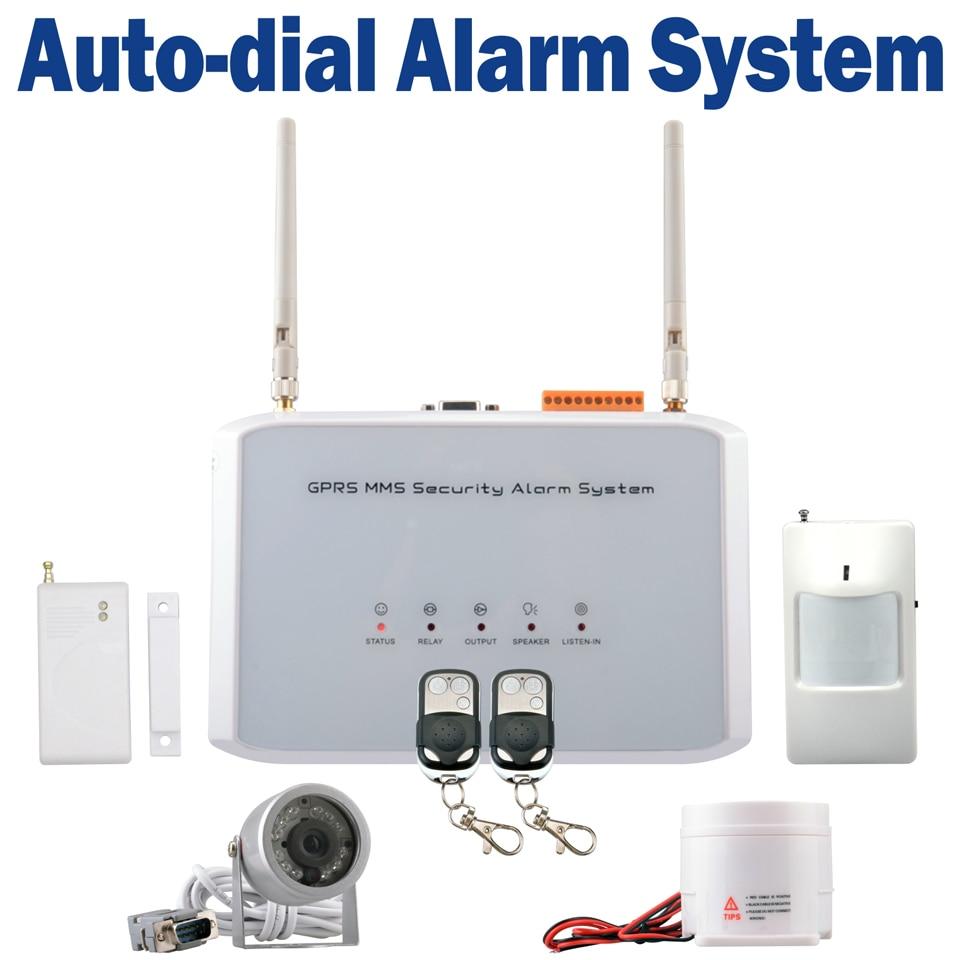 buy mms sms gsm cdma wireless security auto dial burglar alarm system ir camera. Black Bedroom Furniture Sets. Home Design Ideas