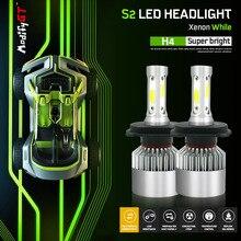 Modifygt S2 LED H4 Led H7 H11 H1 H3 9005 9006 8000LM 12V 72W 6500K COB Car Headlight Bulbs HiLo Beam Auto Headlamp led light