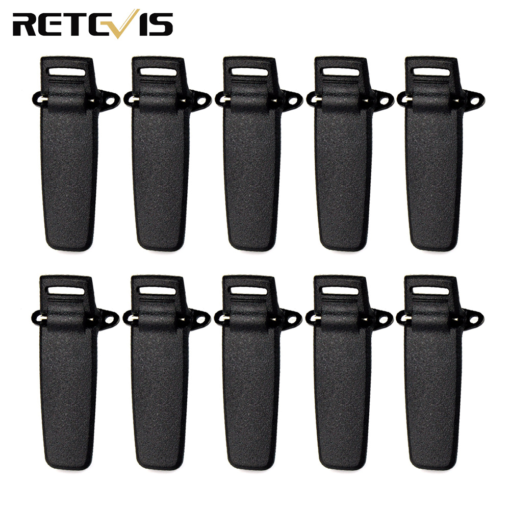 10pcs Belt Clip For TYT MD-380 Retevis RT3 DMR Radio Digital Walkie Talkie J9110T