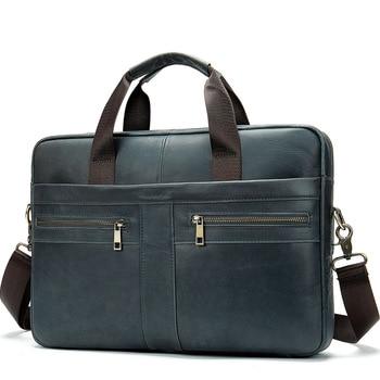 Genuine Leather Men's Shoulder Bag